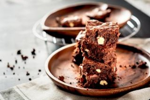 Chocolate Mousse and Almond Brownies