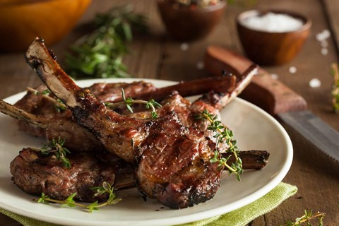 Grilled Rosemary and Garlic Lamb Chops