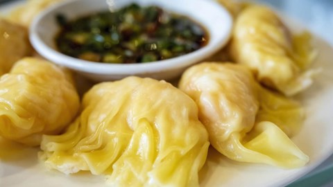 Steamed Vegetable Wontons