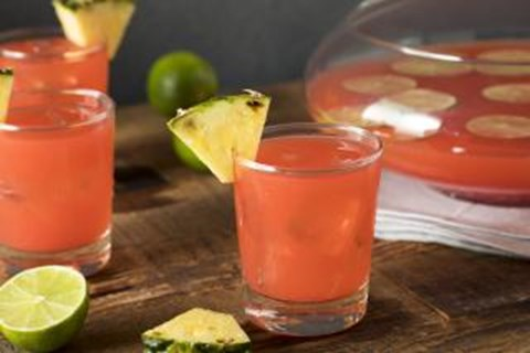 Strawberry Kiwi Rum Punch