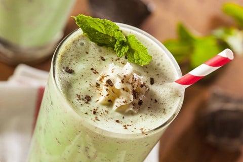 Mint Chocolate Chip Ice Cream Shake