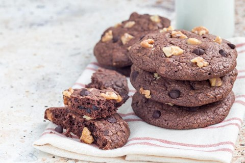 Double Chocolate Walnut Brownie Drops - 2 Dozen