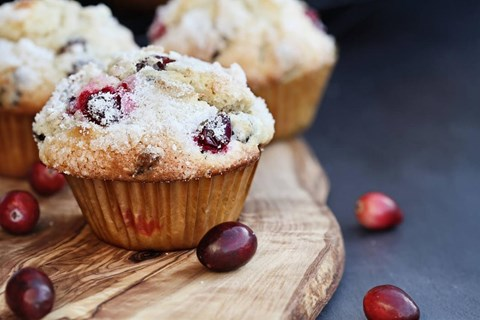 "Cranberry ""Pick-Me-Up"" Muffins"