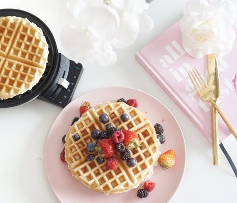 Nutty Whole Wheat Waffles - 8 Waffles
