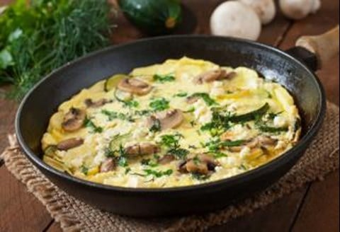 Omelet with Zucchini & Mushrooms