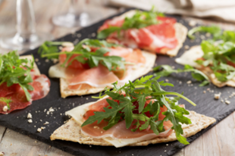 Prosciutto, Arugula & Fontina Open-Faced Sandwich