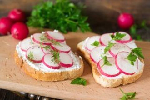 Dill-Radish Tea Sandwiches