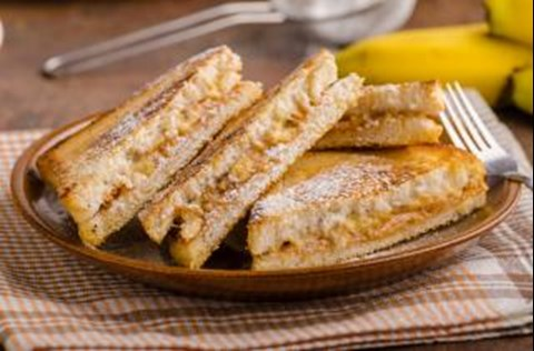 Grilled PB and Banana Panini
