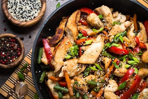 Chicken and Vegetable Stir-Fry (for MSC)