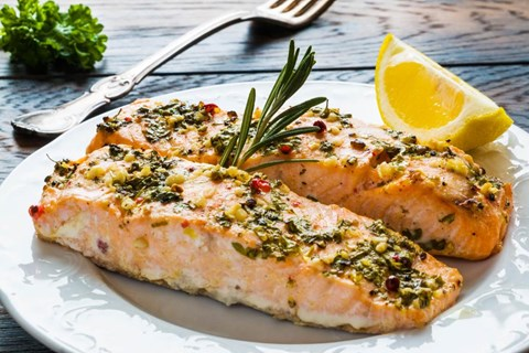 Salmon with Lemon-Herb Butter