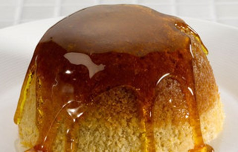 Steamed Pudding with Maple Syrup