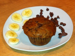 Don't eat the photo!! Submitted by People Pleaser Banana Chocolate Chip Muffins by Jeff Fry