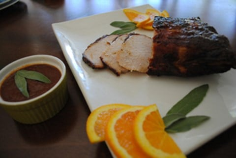 Roast Pork with Sweet Cherry And Dr. Pepper Bar-B-Que