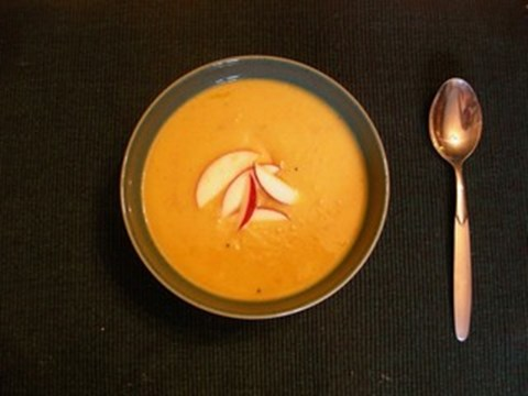Baked Apple and Acorn Squash Soup