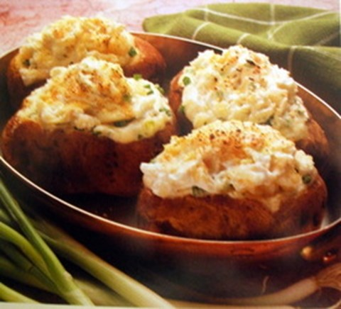 Roasted Garlic and Parmesan Twice Baked Potatoes