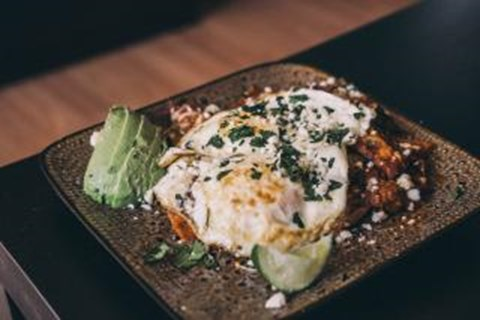 Spicy and Smokey Chilaquiles with Fried Eggs