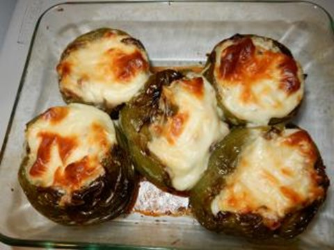 Grilled mexican stuffed green bell peppers