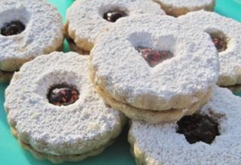 PECAN SHORTBREAD LINZER COOKIES - for food processors