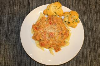 Penne Alla Vodka with Garlic Knots Submitted by Penne Alla Vodka: