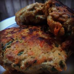 Sweet Potato Spinach Turkey Burgers Submitted by Creative Cook in the Kitchen