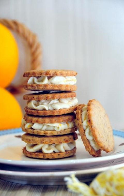 Almond Lemon Sandwich Cookies