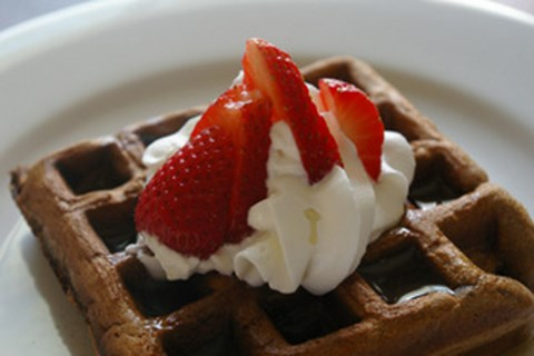 Chocolate Brownie Waffles - 6 Waffles
