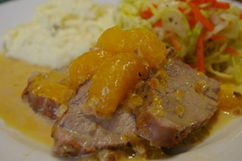 Pork Tenderloin with Mandarin Orange Cream Sauce