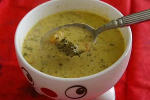 Curried Broccoli and Cheddar Soup
