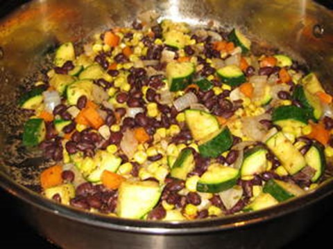 Black Bean, Corn and Zucchini Succotash