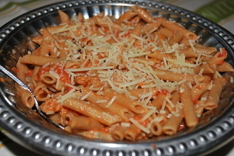 Penne with Italian Sausage Tomato Cream Sauce