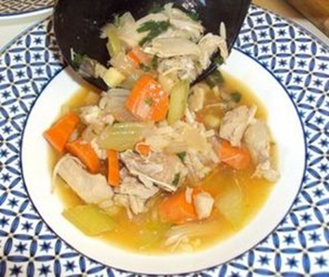 Asian-Style Turkey Soup