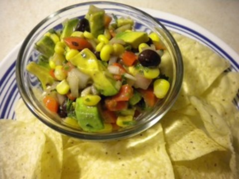 Avocado, Corn, and Black Bean Salsa