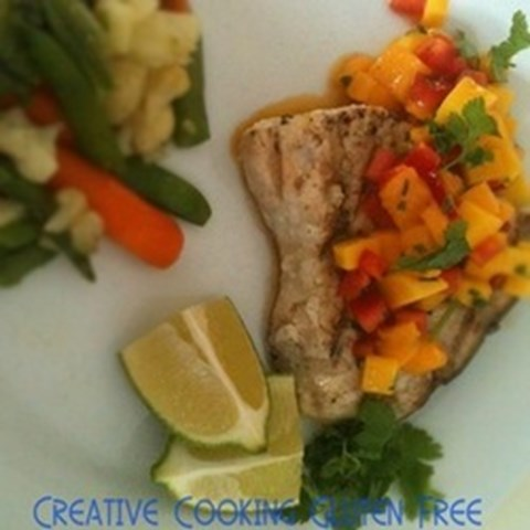 Grilled Swordfish and Mango Salsa