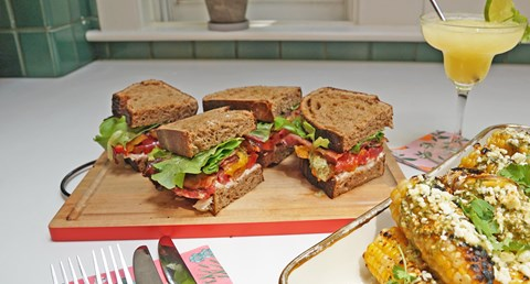 Smoky Woodcreek BLT with charred jalapeno mayonnaise